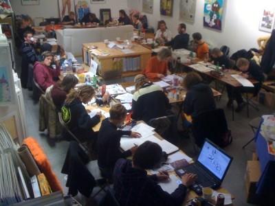 24 Hour Comic Day in Lambiek