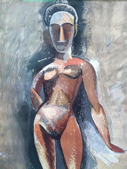 Staand naakt 1907 - 1908 Pablo Picasso