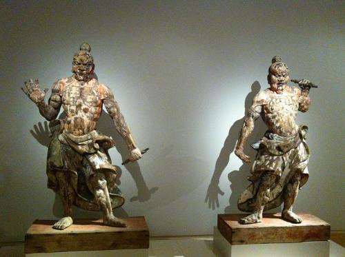 Twee tempelwachters, anoniem, ca. 1300 - ca. 1400