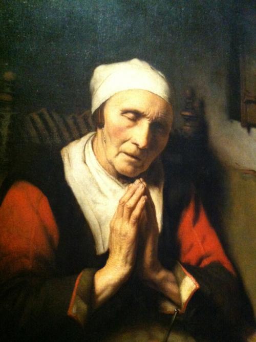 Oude vrouw in gebed, bekend als 'Het gebed zonder end', Nicolaes Maes, ca. 1656